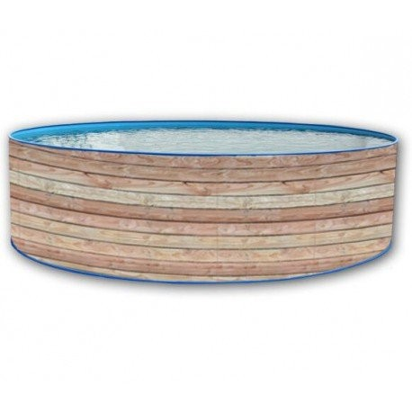 Best Swimming Pool for Garden 350x90Above-Ground Swimming Pool Round Wall Hard Lacquered Pine Garland Toi