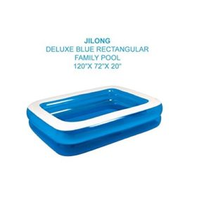 "Best Swimming Pool for Garden Giant Rectangular Family Size Swimming Paddling Pool Fun (120""X72""X20""Inch)"