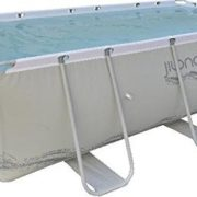 Best Swimming Pool for Garden Jilong Passaat Grey 400H - steel frame paddling pool, rectangular pool, 400x207x122cm, grey/white