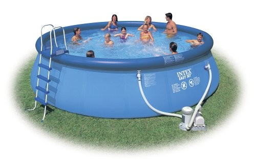 intex 15tf pool with filter and ladder best swimming pool for garden. Black Bedroom Furniture Sets. Home Design Ideas