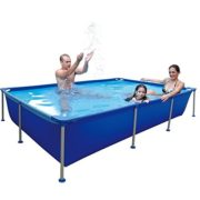 Best Swimming Pool for Garden Jilong Passaat Blue 258 - steel frame paddling pool, rectangular pool, 258x179x66cm