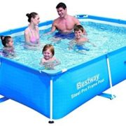 Best Swimming Pool for Garden Bestway Steel Pro Power Pro Frame Pool 2.59m x 1.70m x 61cm - blue - above ground pools (Frame, Rectangular, Blue, Steel, PVC, Full color box)