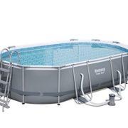 Bestway Frame Pool Power Steel Set Oval 488 X 305 X 107 Cm