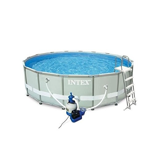 Intex 16ft x 48 ultra frame above ground pool with sand for Garden pool accessories