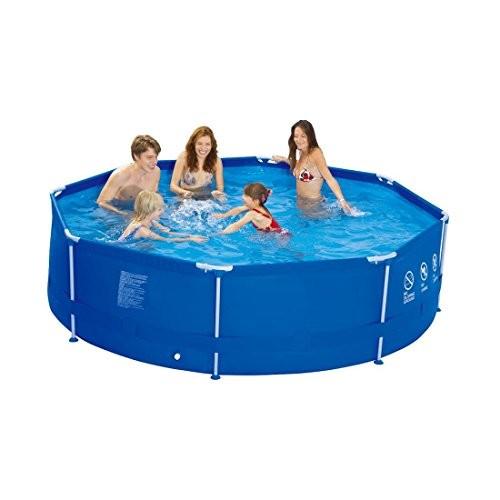 jilong round 10ft steel frame pool best swimming pool for garden. Black Bedroom Furniture Sets. Home Design Ideas