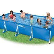 "Best Swimming Pool for Garden Intex Rectangular Frame Pool 177 1/4"" x 86 5/8"" x 33"""