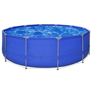 Best Swimming Pool for Garden vidaXL Above Ground Swimming Pool Steel Frame Round 457 x 122 cm
