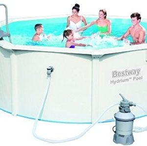 Best Swimming Pool for Garden Bestway Piscina Redonda de chapa Reforzada hydrium color blanco 360x120 cm