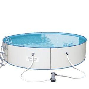 "Best Swimming Pool for Garden Bestway Hydrium ""Splasher, White Steel Wall Pool Set 488x 488x 107cm, 19.074L 56607/05"