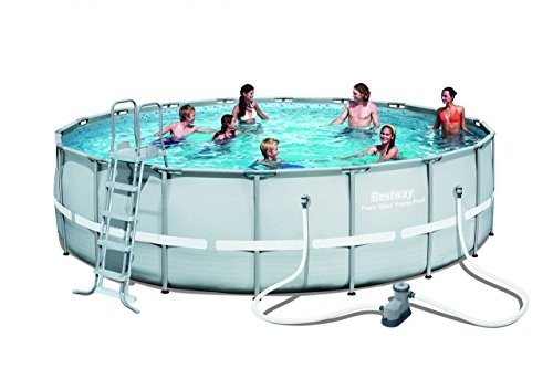 Bestway 18 Ft X 52 Inch Power Steel Frame Pool Set Best