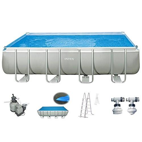 intex pool 549x274x132 cm swimming pool steel wall metal frame with intex sand filter pump 10500. Black Bedroom Furniture Sets. Home Design Ideas