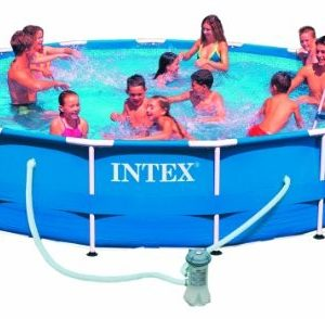 Best Swimming Pool for Garden AK SPORTS 775227 305 x 76 cm Intex Metal Frame Pool - Blue