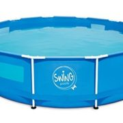 Best Swimming Pool for Garden Ambiente Home Frame Swimming Pool with 4 Viewing Windows, 4542 L Blue 305 x 305 x 76 cm 26027