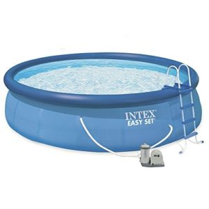 Best Swimming Pool for Garden Intex Easy Set Up 18ft x 48in Pool with Filter Pump, Ladder, Ground Cloth and Cover #28176