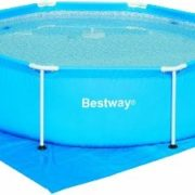 Best Swimming Pool for Garden 9 ft Ground Cloth for Fast Set & Steel Frame Pools