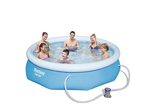 Bestway inflatable fast set swimming pool with pump 9 for Best rated inflatable swimming pool