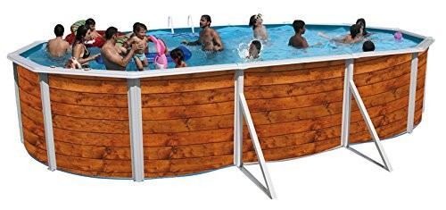 Best Swimming Pool for Garden Decorative Wooden Oval Swimming Pool ETNICA 5.50 x 3.66 m x 1.20 you 8116