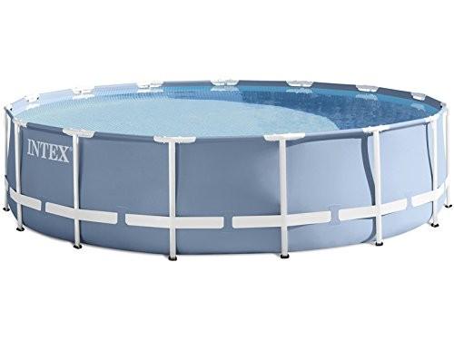intex 28736 prism frame pool 457x122 cm complete set. Black Bedroom Furniture Sets. Home Design Ideas