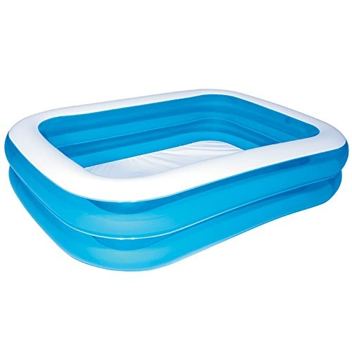 """Best Swimming Pool for Garden BESTWAY BLUE RECTANGLE INFLATABLE PADDLING POOL (79"""" x 59"""" x 20"""") BW54005"""