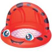 Best Swimming Pool for Garden Baby Pool with Canopy - Red Ladybird