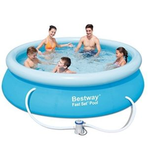 Best Swimming Pool for Garden BestWay Fast Set Swimming Pool Set Round Inflatable Above Ground 10ft x 30inch With Filter Pump 57270
