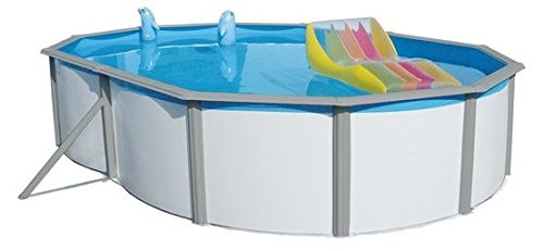 Best Swimming Pool for Garden Racer-Nuovo Luxury Oval Steel Pool, Swimming Pool Built, the Swimming Pool Various Sizes 550x 366x 132cm-730x 366x 132cm, also for the installation Underground (640x 366x 132cm)
