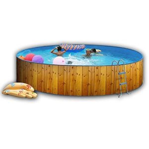 Best Swimming Pool for Garden White Coral Wood Effect Pool 4.5m x 0.9m