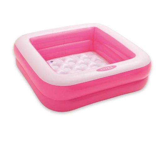 Best Swimming Pool for Garden Intex 57100NP Baby Pool Play Box (Pink) - Colour: Pink