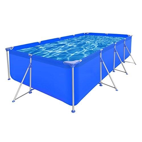 Best Swimming Pool for Garden vidaXL Above Ground Swimming Pool Steel Rectangular 394 x 207 80 cm