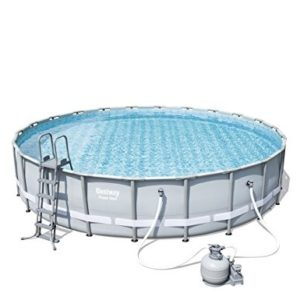 "Best Swimming Pool for Garden 'Bestway Frame Pool ""Power Steel Set Grey 671 x 671 x 132 cm 40.377 L 56634/05"