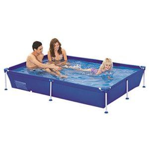 Best Swimming Pool for Garden Jilong Passaat Blue 228 - steel frame paddling pool, rectangular pool, 228x159x42cm