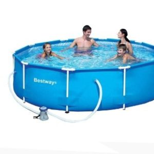 Best Swimming Pool for Garden BESTWAY 10FT x 30IN DEEP STEEL PRO FRAME SWIMMING POOL WITH FILTER PUMP