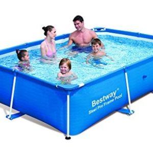 Best Swimming Pool for Garden Bestway 102 x 67 x 24-inch 2300L Deluxe Splash Frame Pool