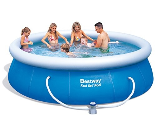 bestway 57166gs fast pool set with filter pump gs 366 x 91 cm best swimming pool for garden. Black Bedroom Furniture Sets. Home Design Ideas