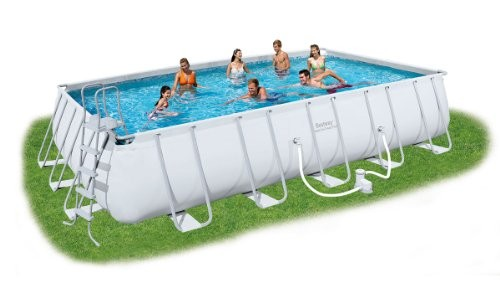 Bestway Rectangular Frame Set Above Ground Pool Grey 22 Ft Best Swimming Pool For Garden