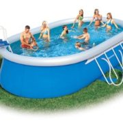 Best Swimming Pool for Garden Bestway Oval Fast Set Above Ground Pool - Blue, 18 Ft