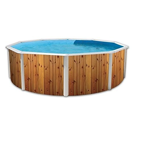 Best Swimming Pool for Garden White Coral Wood Effect Steel Pool 4.6m x 1.2m