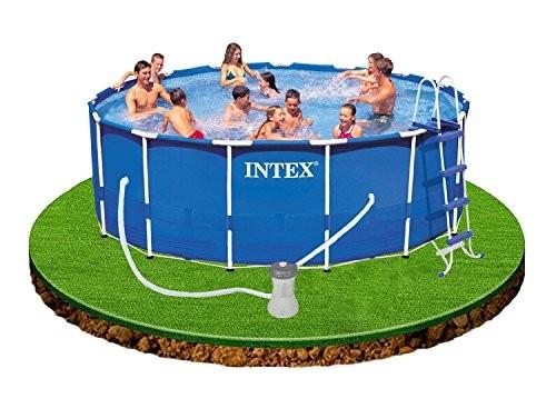 Intex steel metal frame steel frame pool 457 x 122 cm for Intex gartenpool