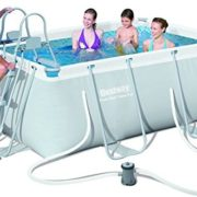 """Best Swimming Pool for Garden Bestway Steel Pro Rectangular Frame Pool With Pump 113"""" x 79"""" x 39.5"""" - 56409"""