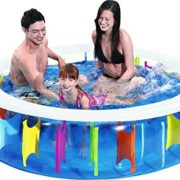 Best Swimming Pool for Garden Jilong Giant Rainbow Pool - transparent children´s pool with rainbow design on inside, ø190 x 50cm