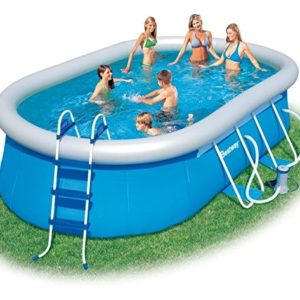 Best Swimming Pool for Garden Bestway Oval Fast Set Above Ground Swimming Pool - Blue, 16 Ft