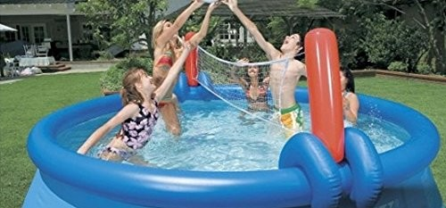 Bestway 10ft Fast Set Pool With Volleyball Net Best Swimming Pool For Garden