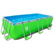 Best Swimming Pool for Garden Jilong Passaat Green 400 - steel frame paddling pool, rectangular pool, 400x200x99cm
