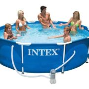 Best Swimming Pool for Garden Intex 56999 - Pool Frame, 305 x 76 cm., Pump Filter I.1