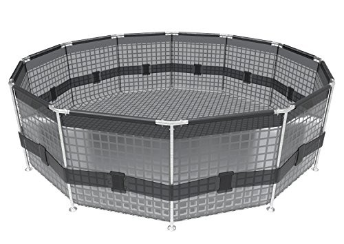 Bestway Frame Pool Quot Power Steel Set In Rattan Look Brown