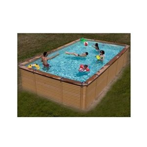 Best Swimming Pool for Garden Zodiac Azteck Maxiwood Rectangular Wooden Pool 4m x 5.6m