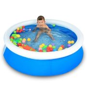 Best Swimming Pool for Garden Family Swimming Pool Baby Inflatable Swimming Pool Ocean Ball Pool Play Pool Bathtub Take A Bath Gift 150 * 40cm Blue