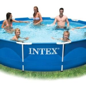 Best Swimming Pool for Garden Intex 10ft Diameter x 30in Deep Metal Frame Pool (no pump) #28200