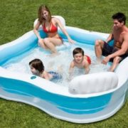 Best Swimming Pool for Garden Intex 56475 Paddling Pool 4 Seats 90 x 90 x 66 cm