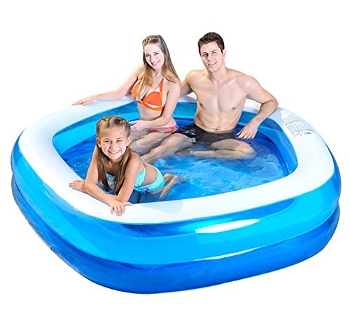 Inflatable Pool Slide Uk: Jilong Pentagon Family Paddling Pool, Blue, 79 X 77 Inch